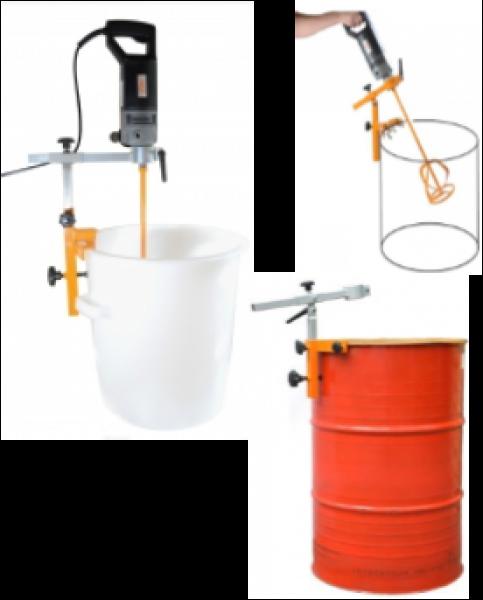 Barrel clamp for barrel mixers