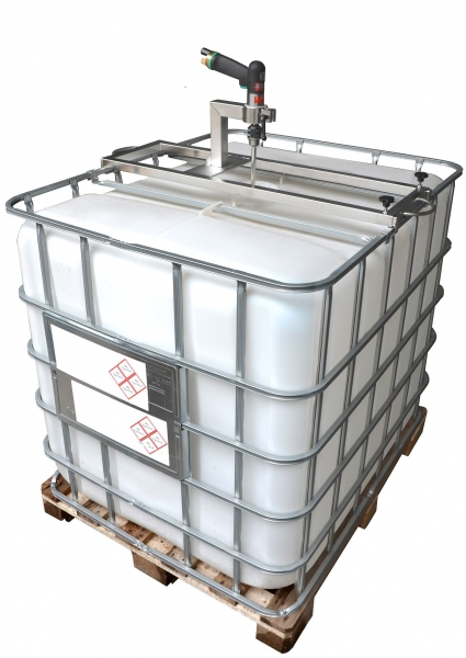 IBC container traverse stainless steel V2A for powertool mixers