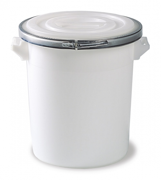 Plastic mixing bucket 100 ltr with lid, seal, clamping ring
