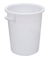 Plastic mixing bucket 100 ltr white
