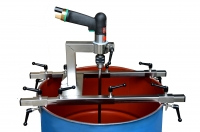 Barrel traverse for power tool mixers stainless steel V2A food grade